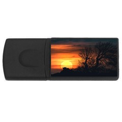Sunset At Nature Landscape USB Flash Drive Rectangular (4 GB)