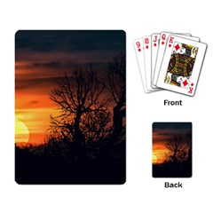 Sunset At Nature Landscape Playing Card