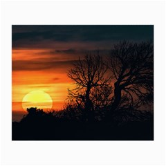 Sunset At Nature Landscape Small Glasses Cloth (2-Side)
