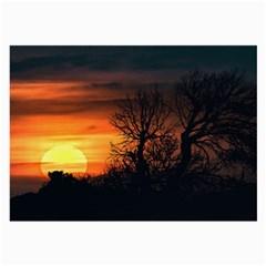 Sunset At Nature Landscape Large Glasses Cloth (2-Side)