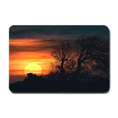 Sunset At Nature Landscape Small Doormat