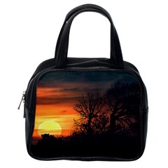 Sunset At Nature Landscape Classic Handbags (One Side)