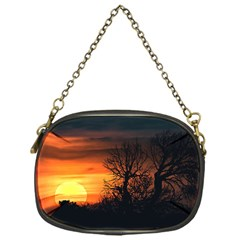 Sunset At Nature Landscape Chain Purses (One Side)