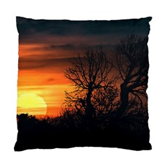 Sunset At Nature Landscape Standard Cushion Case (Two Sides)