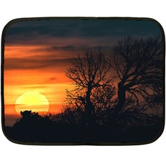 Sunset At Nature Landscape Double Sided Fleece Blanket (Mini)
