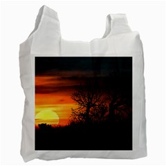 Sunset At Nature Landscape Recycle Bag (One Side)