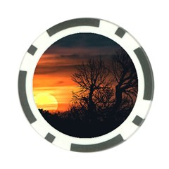 Sunset At Nature Landscape Poker Chip Card Guard (10 pack)