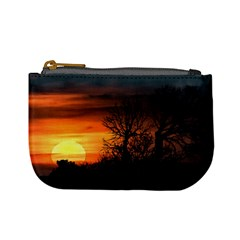 Sunset At Nature Landscape Mini Coin Purses