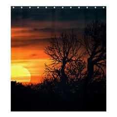 Sunset At Nature Landscape Shower Curtain 66  x 72  (Large)
