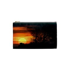 Sunset At Nature Landscape Cosmetic Bag (Small)