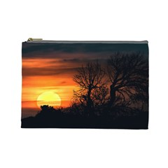 Sunset At Nature Landscape Cosmetic Bag (Large)
