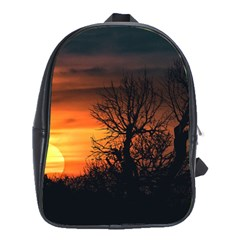 Sunset At Nature Landscape School Bags(Large)