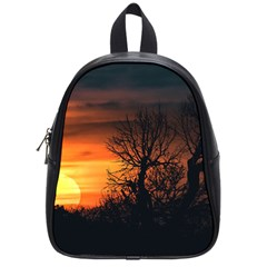 Sunset At Nature Landscape School Bags (Small)