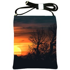 Sunset At Nature Landscape Shoulder Sling Bags