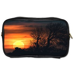 Sunset At Nature Landscape Toiletries Bags