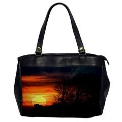 Sunset At Nature Landscape Office Handbags