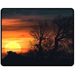 Sunset At Nature Landscape Fleece Blanket (Medium)