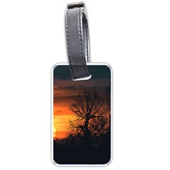 Sunset At Nature Landscape Luggage Tags (One Side)