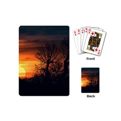 Sunset At Nature Landscape Playing Cards (Mini)