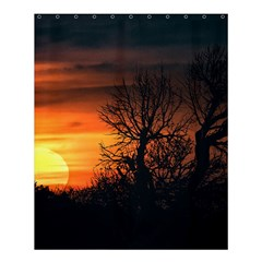 Sunset At Nature Landscape Shower Curtain 60  x 72  (Medium)