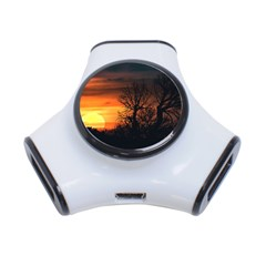 Sunset At Nature Landscape 3-Port USB Hub