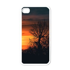 Sunset At Nature Landscape Apple iPhone 4 Case (White)