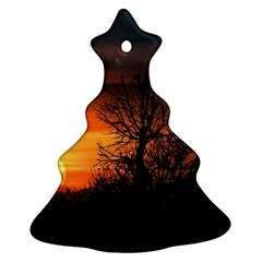 Sunset At Nature Landscape Christmas Tree Ornament (Two Sides)
