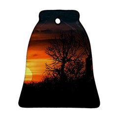 Sunset At Nature Landscape Bell Ornament (Two Sides)
