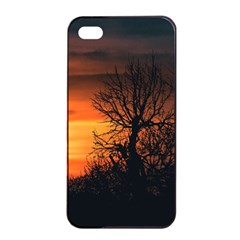 Sunset At Nature Landscape Apple iPhone 4/4s Seamless Case (Black)