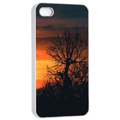 Sunset At Nature Landscape Apple iPhone 4/4s Seamless Case (White)
