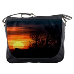 Sunset At Nature Landscape Messenger Bags