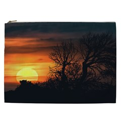 Sunset At Nature Landscape Cosmetic Bag (XXL)
