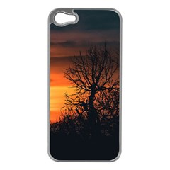 Sunset At Nature Landscape Apple iPhone 5 Case (Silver)