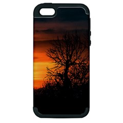 Sunset At Nature Landscape Apple iPhone 5 Hardshell Case (PC+Silicone)