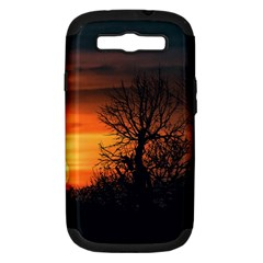 Sunset At Nature Landscape Samsung Galaxy S III Hardshell Case (PC+Silicone)