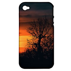 Sunset At Nature Landscape Apple iPhone 4/4S Hardshell Case (PC+Silicone)