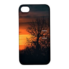 Sunset At Nature Landscape Apple iPhone 4/4S Hardshell Case with Stand