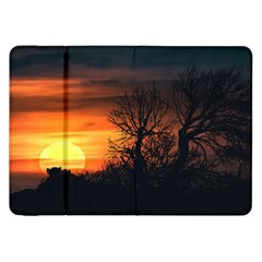 Sunset At Nature Landscape Samsung Galaxy Tab 8.9  P7300 Flip Case