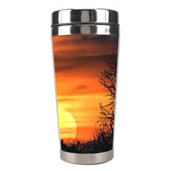 Sunset At Nature Landscape Stainless Steel Travel Tumblers