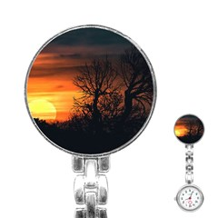 Sunset At Nature Landscape Stainless Steel Nurses Watch
