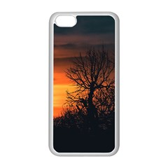 Sunset At Nature Landscape Apple iPhone 5C Seamless Case (White)