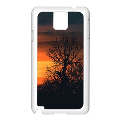 Sunset At Nature Landscape Samsung Galaxy Note 3 N9005 Case (White)