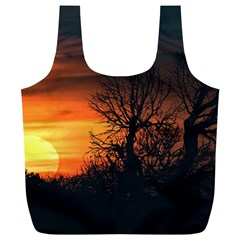 Sunset At Nature Landscape Full Print Recycle Bags (L)