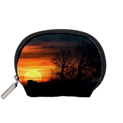Sunset At Nature Landscape Accessory Pouches (Small)