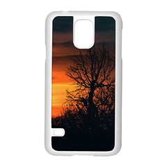 Sunset At Nature Landscape Samsung Galaxy S5 Case (White)