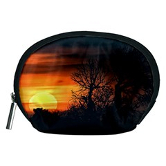 Sunset At Nature Landscape Accessory Pouches (Medium)