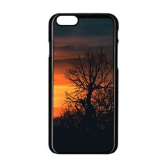 Sunset At Nature Landscape Apple iPhone 6/6S Black Enamel Case