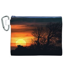 Sunset At Nature Landscape Canvas Cosmetic Bag (XL)