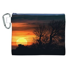 Sunset At Nature Landscape Canvas Cosmetic Bag (XXL)