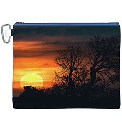 Sunset At Nature Landscape Canvas Cosmetic Bag (XXXL)